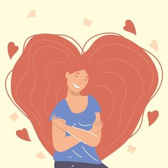 Femme cheveux roux s'embrassant