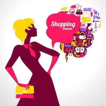 Femme commerçante. design élégant et élégant