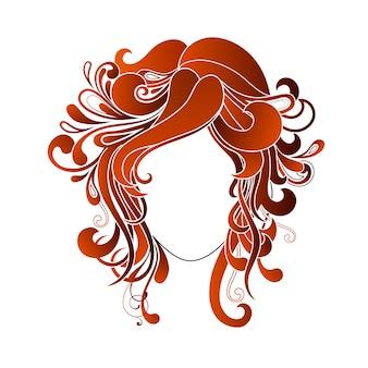 Femme conception de coiffure
