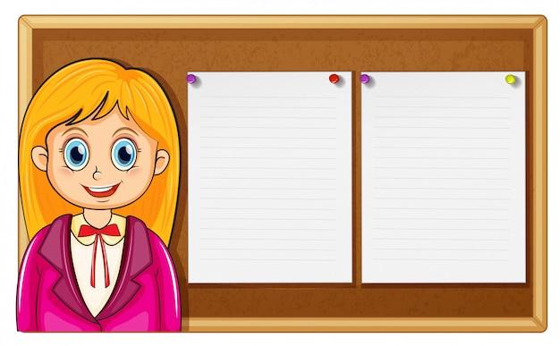 Femme et conseil avec papiers