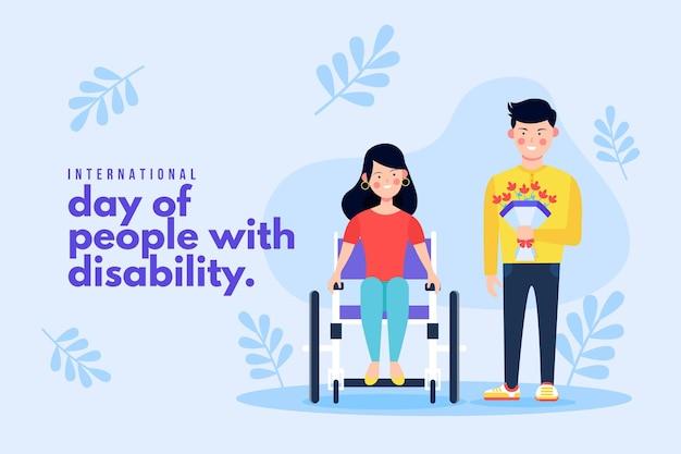 Femme, dans, fauteuil roulant, illustration