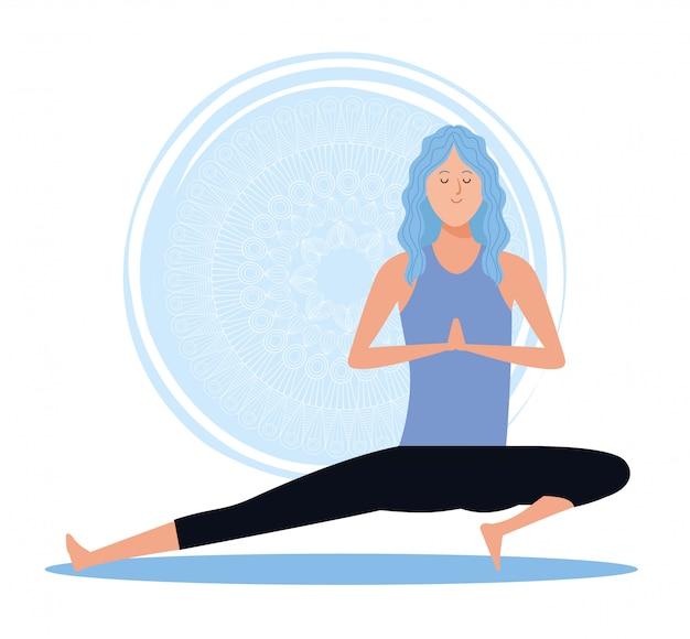 Femme, dans, yoga, pose