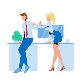 Femme employé harcèlement homme collègue