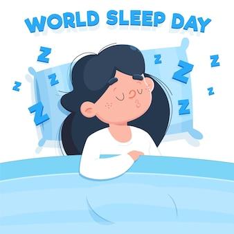 Femme endormie journée mondiale du sommeil