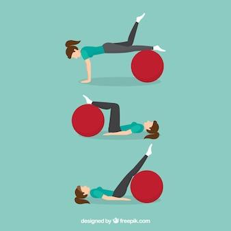 Femme faisant des exercices de réadaptation