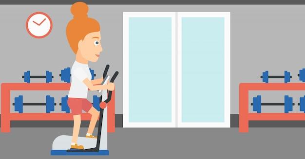 Femme faisant des exercices.