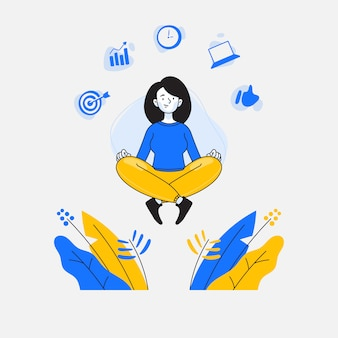 Femme faisant la méditation