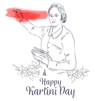 Femme héros de la journée kartini dans l'éducation