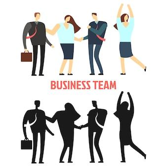Femme et homme d'affaires équipe isolée