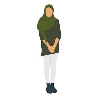 Femme islamique illustrée couverte de hijab
