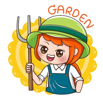 Femme jardinier