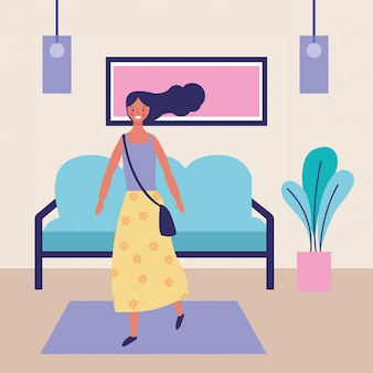 Femme à la maison
