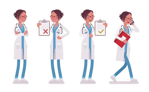 Femme médecin au travail