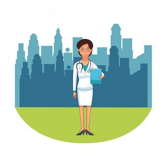 Femme médecin avatar