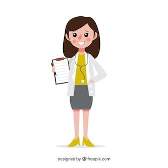 Femme médecin avec presse-papiers