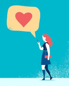 Femme messages textuels amour