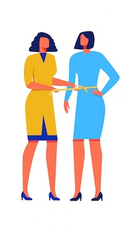 Femme mesures ruban à la taille mesurer une autre femme.