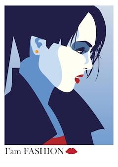Femme de mode dans le style pop art. illustration vectorielle