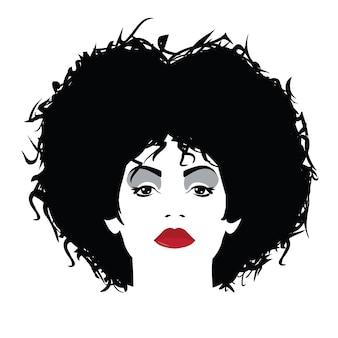 Femme de mode dans le style pop art. illustration