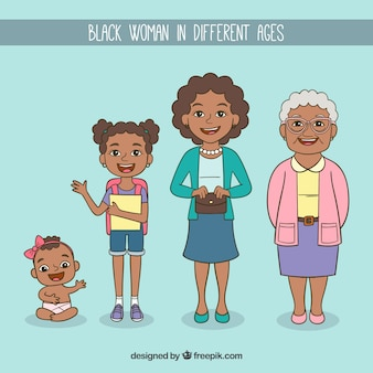 Femme noire à différents âges