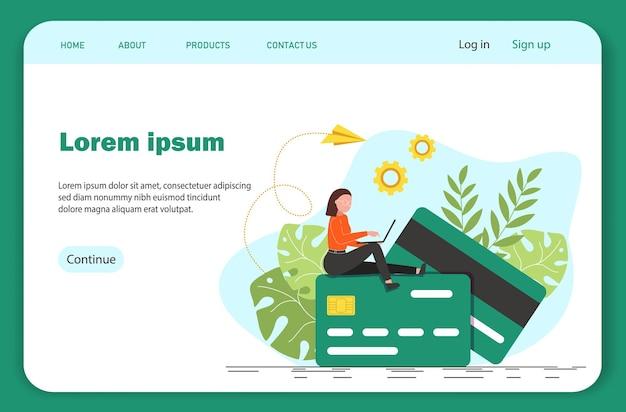 Femme avec ordinateur portable assis dans la nature et les feuilles. freelancer travaillant sur ordinateur portable, il est temps de gagner de l'argent.