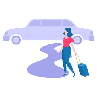 Femme partant en voyage