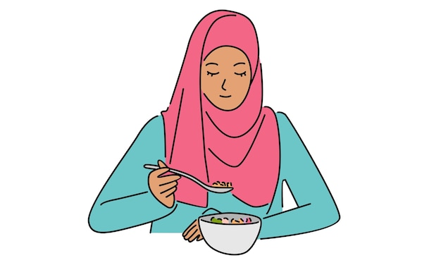 Femme portant des vêtements traditionnels arabes