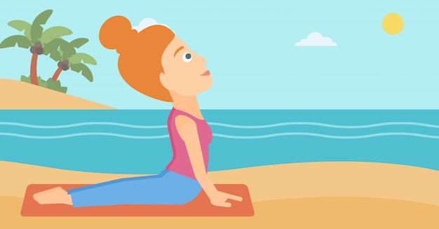 Femme pratiquant le yoga.