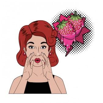 Femme racontant un secret avec bulle de dialogue