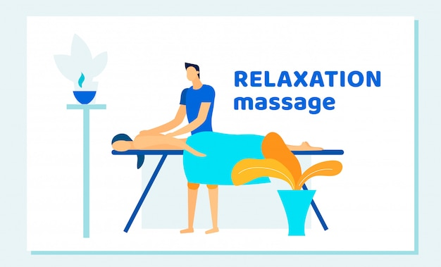 Femme, réception, relaxation, dos, massage, spa