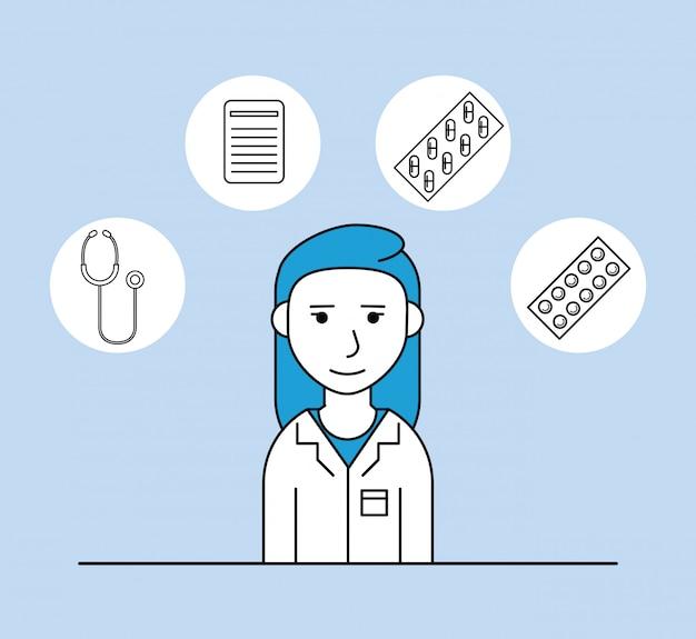 Femme recherche médicale