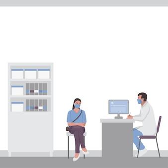 Une femme à un rendez-vous chez le médecin dans un cabinet médical