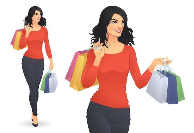 Femme shopping