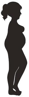 Femme de silhouette avec le diabète