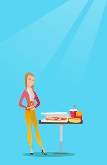 Femme souffrant de brûlures d'estomac