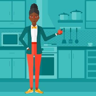 Femme tenant la pomme.