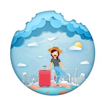Femme voyageur
