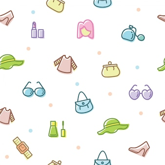 Femmes accessoires icon set vector illustration