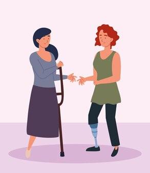 Femmes amputées handicapées