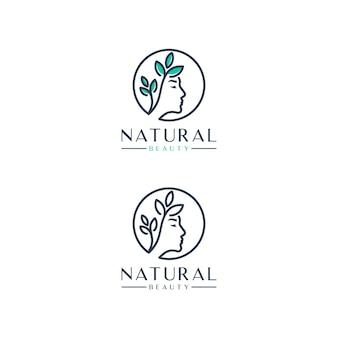 Femmes de beauté, naturelles, inspiration de conception de logo