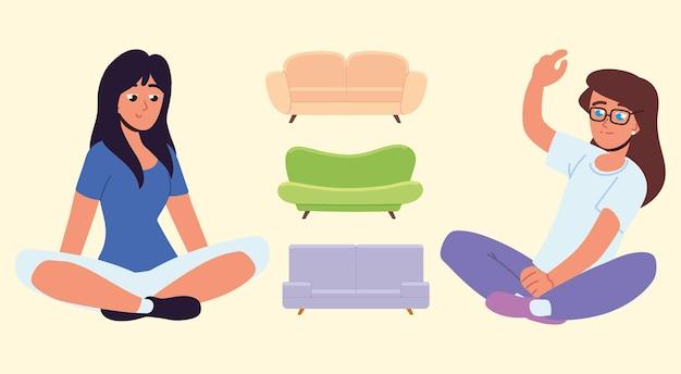 Les femmes et les canapés