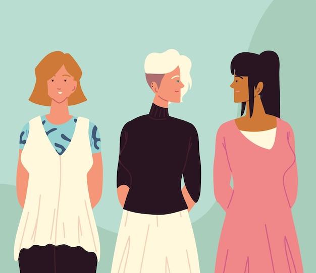 Les femmes dessinent un design élégant différent