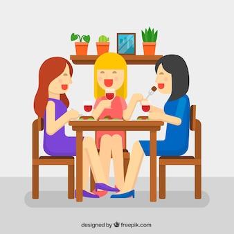 Les femmes dînent ensemble