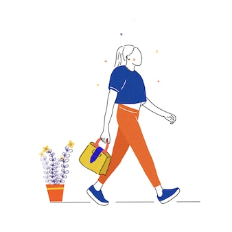 Les femmes font du shopping