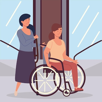 Femmes handicapées amputées