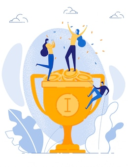 Des femmes heureuses célèbrent leur réussite financière une victoire