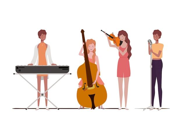 Femmes avec instruments de musique