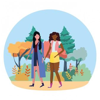 Les femmes isolées vector illustration vectorielle