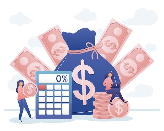 Femmes avec jeu d'icônes d'argent
