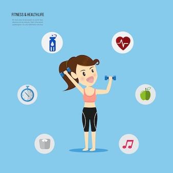 Les femmes jouent fitness et en forme